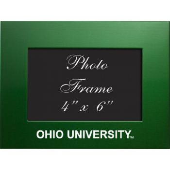 Ohio University - 4x6 Brushed Metal Picture Frame - Green