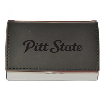 Velour Business Cardholder-Pittsburg State University-Black