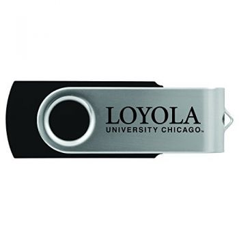 Loyola University Chicago -8GB 2.0 USB Flash Drive-Black