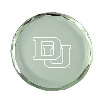 University of Denver-Crystal Paper Weight