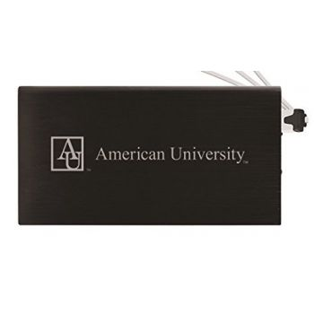 8000 mAh Portable Cell Phone Charger-American University -Black