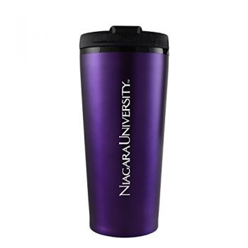 Niagara University -16 oz. Travel Mug Tumbler-Purple