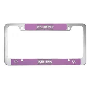 Belmont University-Metal License Plate Frame-Pink