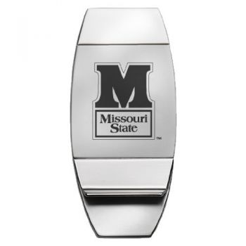 Missouri State University - Two-Toned Money Clip - Silver