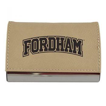 Velour Business Cardholder-Fordham University-Tan