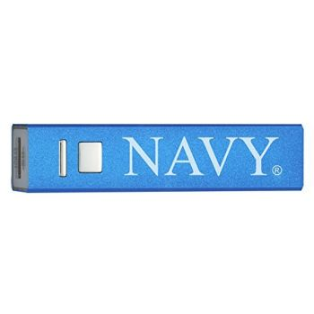 United States Naval Academy - Portable Cell Phone 2600 mAh Power Bank Charger - Blue