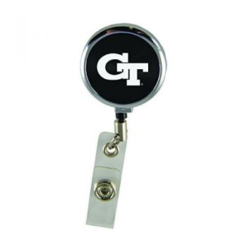 Georgia Institute of Technology-Retractable Badge Reel-Black
