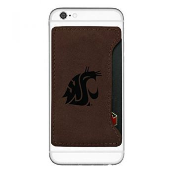Washington State University-Cell Phone Card Holder-Brown