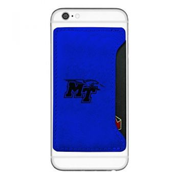 Middle Tennessee State University-Cell Phone Card Holder-Blue