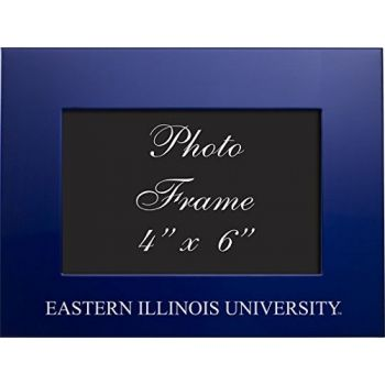 Eastern Illinois University - 4x6 Brushed Metal Picture Frame - Blue