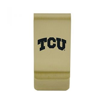 Tarleton State University|Money Clip with Contemporary Metals Finish|Solid Brass|High Tension Clip to Securely Hold Cash, Cards and ID's|Silver