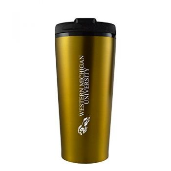 Western Michigan University-16 oz. Travel Mug Tumbler-Gold
