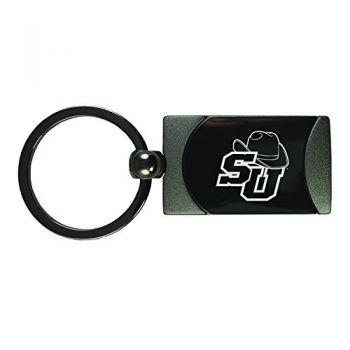 Stetson University -Two-Toned Gun Metal Key Tag-Gunmetal