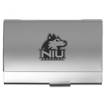 Northern Illinois University - Two-Tone Business Card Holder - Silver