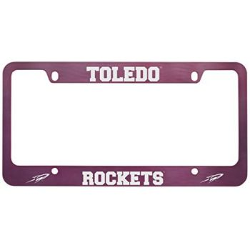University of Toledo -Metal License Plate Frame-Pink