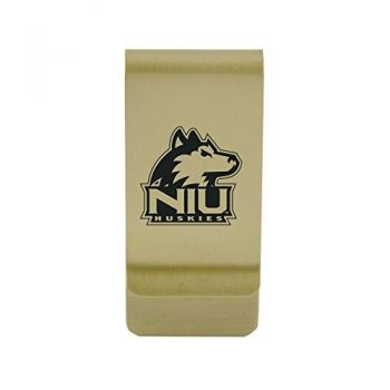 Norfolk State University|Money Clip with Contemporary Metals Finish|Solid Brass|High Tension Clip to Securely Hold Cash, Cards and ID's|Silver