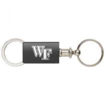 Wake Forest University - Anodized Aluminum Valet Key Tag - Black