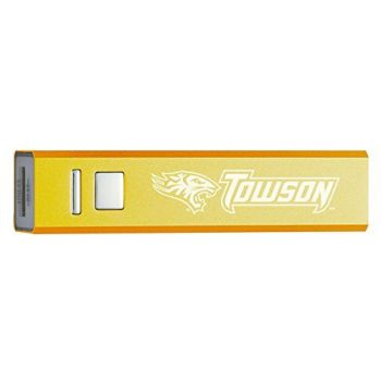Towson University - Portable Cell Phone 2600 mAh Power Bank Charger - Gold