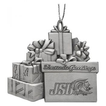 Jacksonville State University - Pewter Gift Package Ornament