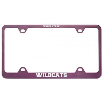 Weber State University -Metal License Plate Frame-Pink