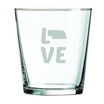 13 oz Cocktail Glass - Nebraska Love - Nebraska Love