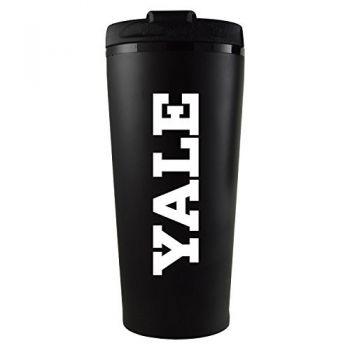 Yale University -16 oz. Travel Mug Tumbler-Black