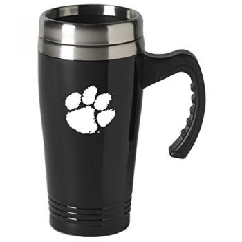 Clemson University-16 oz. Stainless Steel Mug-Black