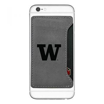 University of Washington-Cell Phone Card Holder-Grey