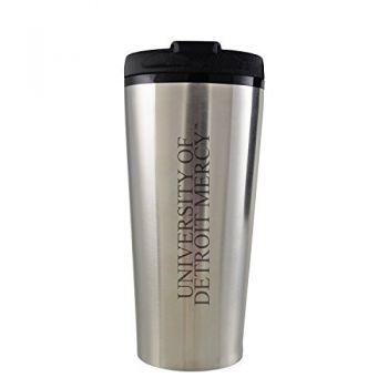 University of Detroit Mercy-16 oz. Travel Mug Tumbler-Silver
