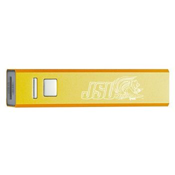 Jacksonville State University - Portable Cell Phone 2600 mAh Power Bank Charger - Gold