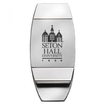 Seton Hall University - Two-Toned Money Clip - Silver