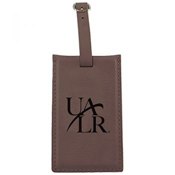 University of Arkansas At Little Rock -Leatherette Luggage Tag-Brown