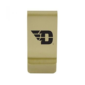 Davidson College|Money Clip with Contemporary Metals Finish|Solid Brass|High Tension Clip to Securely Hold Cash, Cards and ID's|Silver