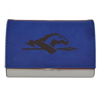 Velour Business Cardholder-Longwood University-Blue