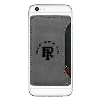 The University of Rhode Island -Cell Phone Card Holder-Grey