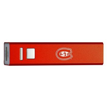 St. Cloud State University - Portable Cell Phone 2600 mAh Power Bank Charger - Red