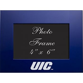 University of Illinois at Chicago - 4x6 Brushed Metal Picture Frame - Blue