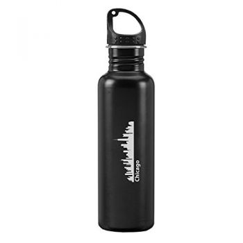 24 oz Reusable Water Bottle - Chicago City Skyline