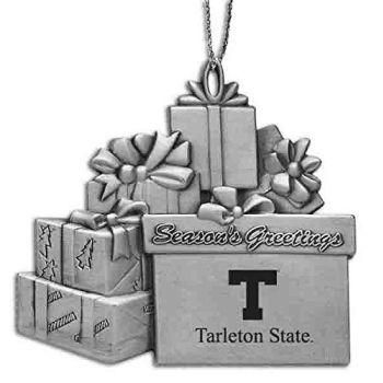 Tarleton State University - Pewter Gift Package Ornament
