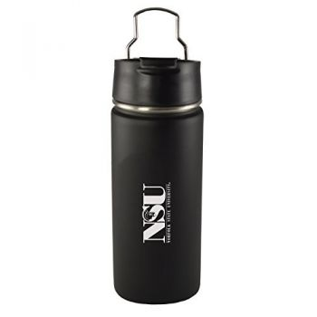 Norfolk State University -20 oz. Travel Tumbler-Black