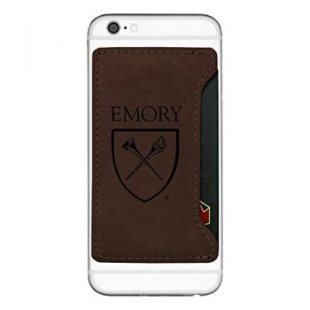 Emory University-Cell Phone Card Holder-Brown