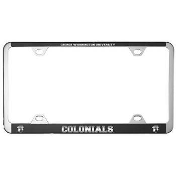 George Washington University -Metal License Plate Frame-Black