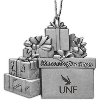 University of North Florida - Pewter Gift Package Ornament