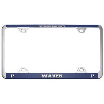 Pepperdine university -Metal License Plate Frame-Blue