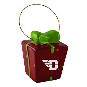 University of Dayton-3D Ceramic Gift Box Ornament