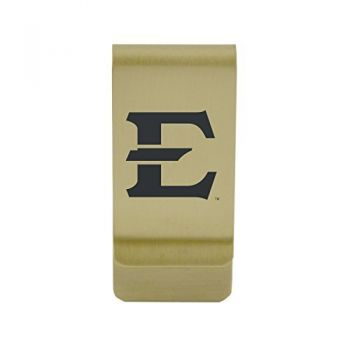 Eastern Michigan University|Money Clip with Contemporary Metals Finish|Solid Brass|High Tension Clip to Securely Hold Cash, Cards and ID's|Silver