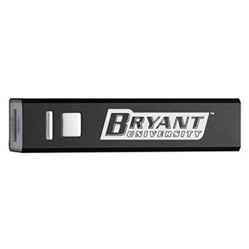 Bryant University - Portable Cell Phone 2600 mAh Power Bank Charger - Black