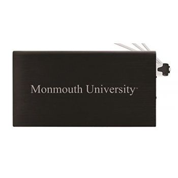 8000 mAh Portable Cell Phone Charger-Monmouth University -Black