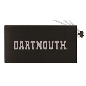 8000 mAh Portable Cell Phone Charger-Dartmouth College-Black
