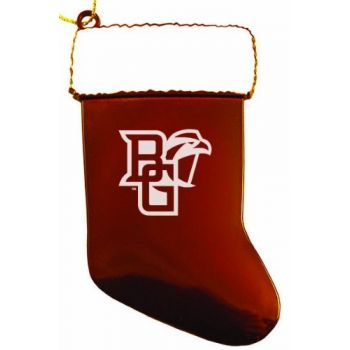 Bowling Green State University - Christmas Holiday Stocking Ornament - Orange